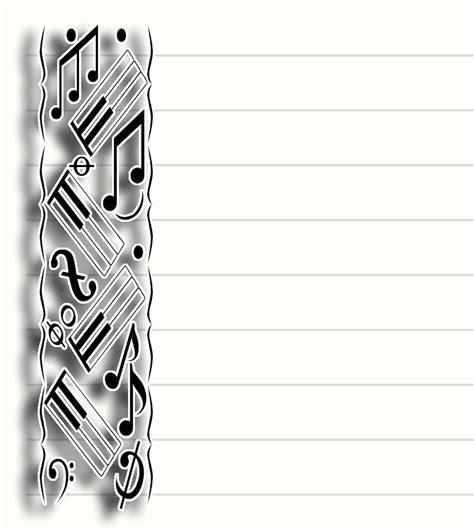 free printable music stationary stationery pretty