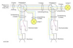 wechselschaltung le wechselschaltung mit schalter steckdosenkombination