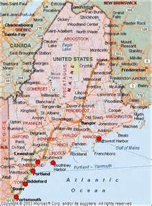 Maine Usa Map by Map Of Maine Usa Maps Pinterest
