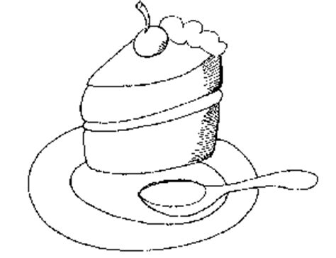 coloring pages of a piece of cake piece of cake coloring page