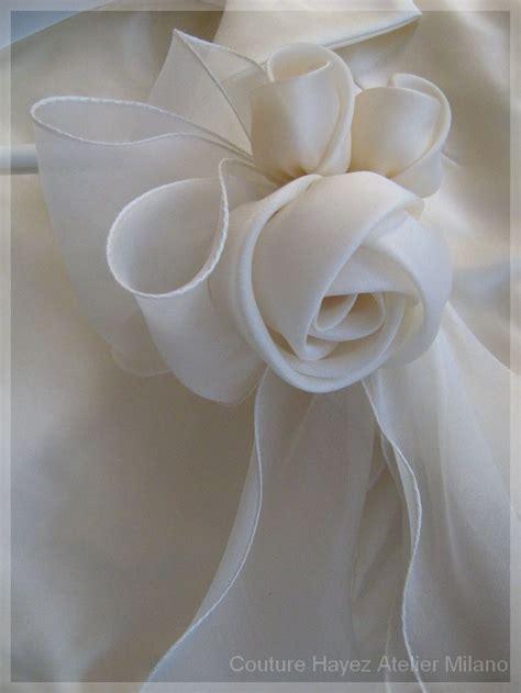 tutorial rose di organza oltre 1000 idee su fiori di nastro su pinterest