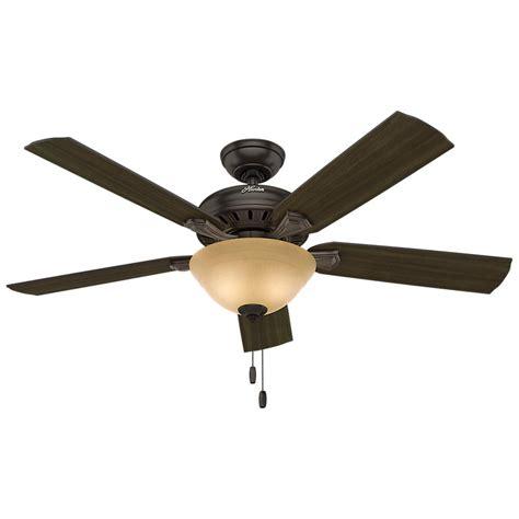 hunter leoni ceiling fan hunter studio series 52 in indoor new bronze ceiling fan