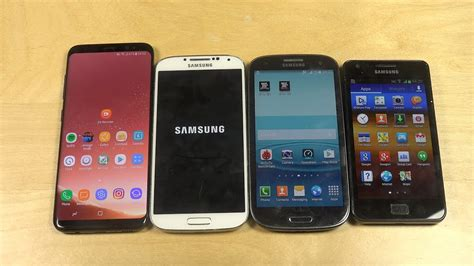V Samsung Samsung Galaxy S8 Vs Samsung Galaxy S4 Vs Samsung Galaxy S3 Vs Galaxy S2 Which Is Faster