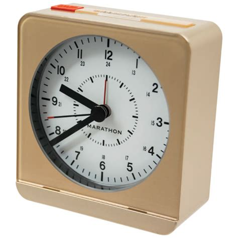 marathon analog desk alarm clock marathon analog desk alarm clock with auto light
