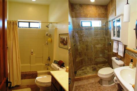 small bathroom remodel pictures before and after phobi