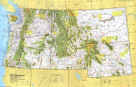 map of nw usa up usa northwest map