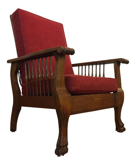 Morris Reclining Chair Antique by Antique Tiger Oak Morris Reclining Chair Chairish