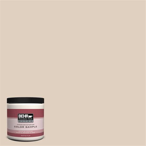 behr premium plus ultra 8 oz n240 2 adobe sand interior exterior paint sle ul20016 the