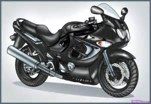 Suzuki Drawing How To Draw A Sport Bike 2006 Suzuki Katana 600 Step By
