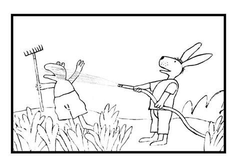 easter frog coloring page kleurplaat haas spuit kikker nat kids n fun zomer