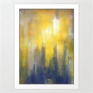 Yellow And Gray Wall Decor by Yellow And Gray Wall Print Modern By Lizmosloft