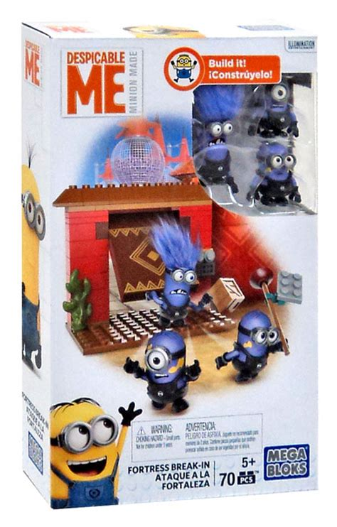 Mega Bloks Despicable Me Fortress Breakin Dkx77multicolor Mega Bloks Despicable Me Minion Made Fortress In Set