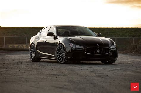maserati ghibli black rims black maserati ghibli looking fly on custom polished