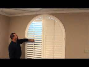 Eyebrow Arch Window Treatments - custom shutters for arched windows youtube