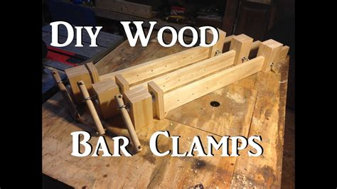 diy wooden bar clamps youtube