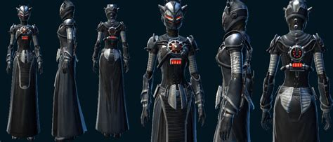 swtor sith inquisitor armor swtor level 55 new gear models preview dulfy