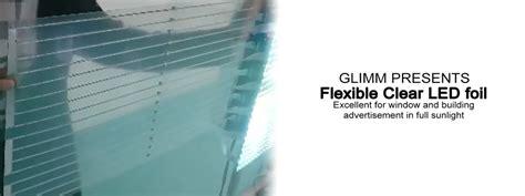 Adhesive Clear Led Screens - clear led foil glimm display