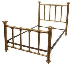 antique american brass bed lot 233