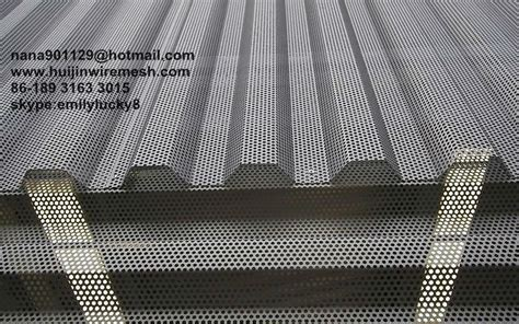 Aluminum Decorative Sheets Perforated Corrugated Metal Panels Perforated Metals For