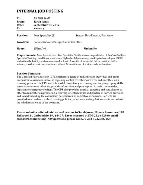 letter of interest for internal job posting