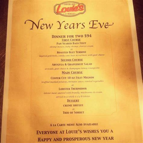 new year menu bc new years prix fixe menu 2013 louie s oyster bar
