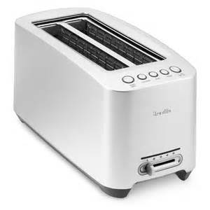 Breville Long Slot 4 Slice Toaster Breville Long Slot Die Cast Smart Toaster Williams Sonoma