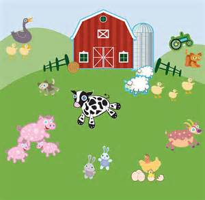 Farm Animals Wall Stickers Fun Farm Animal Wall Decals For Kids Room Mural