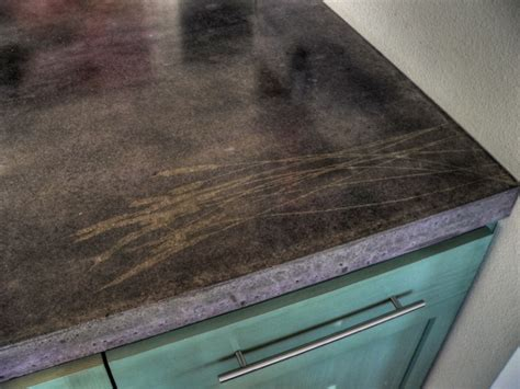 Concrete Stained Countertops by Concrete Countertop With Stained Stencil Concrete