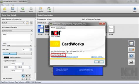 Cardworks Business Card Software Templates by Cardworks Business Card Software Serial Gallery Card