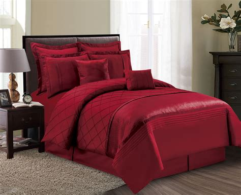 maroon bedspreads comforters 12 piece fiona burgundy bed in a bag set