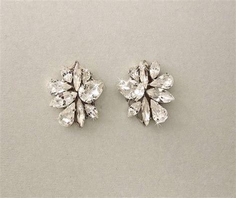 Ohrringe Hochzeit Vintage by Wedding Earrings Bridal Earrings Cluster Earrings Post