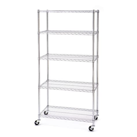 Wire Shelf Wheels by 5 Tier Ultrazinc Nsf Steel Wire Shelving W Wheels