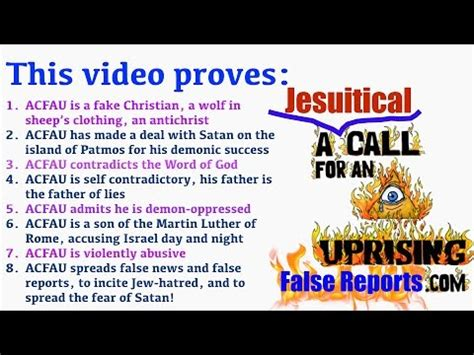 An For A by Quot A Call For An Uprising Quot Acfau Exposed 1 2 A Jesuitical