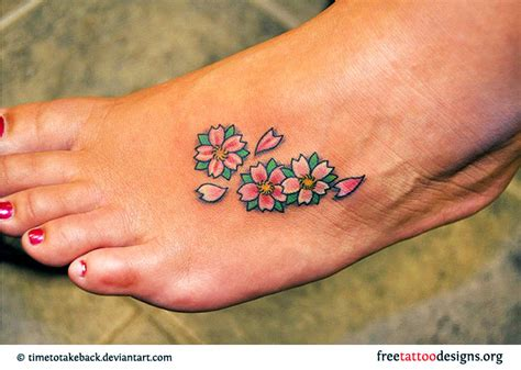 cherry blossom foot tattoo designs ideas ankle tattoos healing process me be