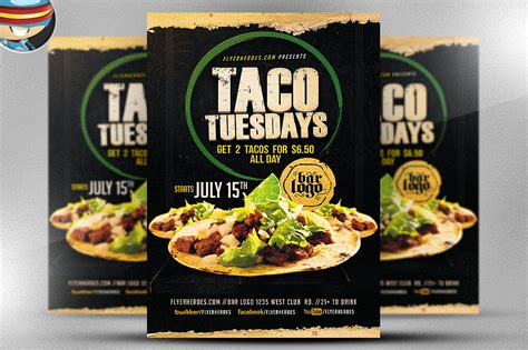 taco template taco tuesdays flyer template flyer templates on creative