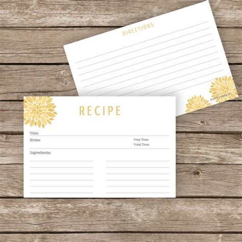 printable recipe cards etsy printable recipe cards 4x6 by poppypresssf on etsy