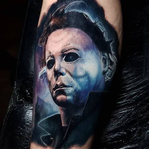 tattoo artist without tattoos it s not really without some more michael myers