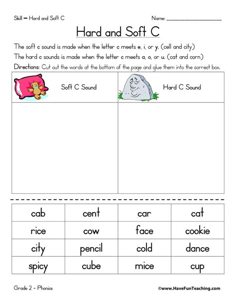 Soft C And G Worksheets by Collection Of C And Soft C Worksheets Bluegreenish