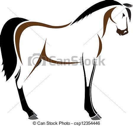 cavallo clipart testa vettore cavallo fondo bianco