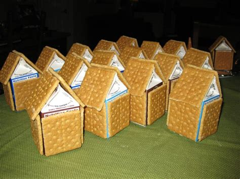 Gingerbread House With Graham Crackers by Gingerbread House On Milk Cartons