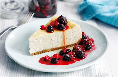 Oven Di Tesco maple cheesecake with berry compote tesco real food