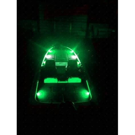 led bass boat deck lights nox series bass boat led deck light green 6