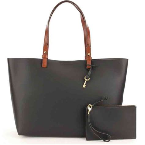 Tas Fossil Tote Bag Pouch 33 fossil handbags fossil black tote with removable