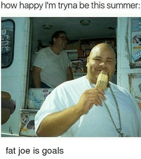 Fat Joe Meme - how happy i m tryna be this summer fat joe is goals fat