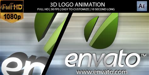 3d Logo Animation After Effects Template Videohive 156988 Ae Templates Videohive 3d Logo Animation After Effects Template