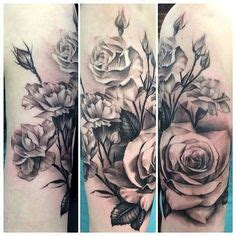 Lion Rose Tattoo Google Search Tattoos Pinterest Realistic Black And Grey Flower Tattoos
