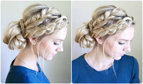 Braided Buns Hairstyles by Mixed Braid Bun Hairstyles Makeup