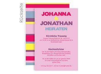 Hochzeitseinladung Cover by Einladungskarte Hochzeit Stripes Pink