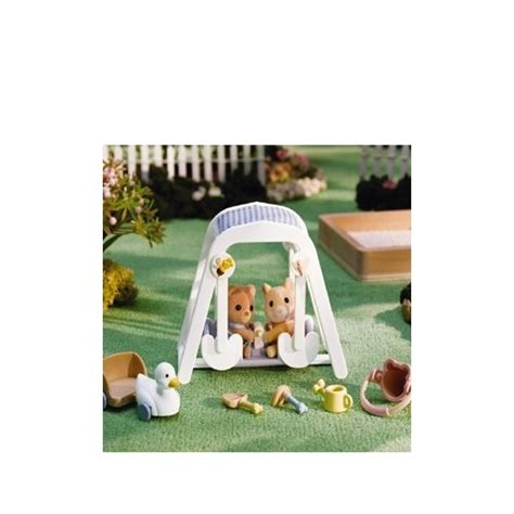 swing n play calico critters peaches and freddy s swing n play toys
