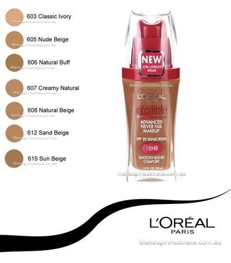 Foundation Loreal Infallible Liquid loreal infallible makeup liquid foundation 612 sand beige